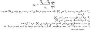 آزمون های همبستگی فرمول دو رشتهای