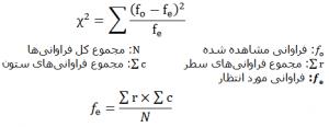 آزمون های همبستگی فرمول خیدو دو متغیره