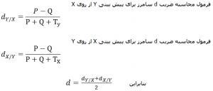 آزمون های همبستگی فرمول ضریب d سامرز